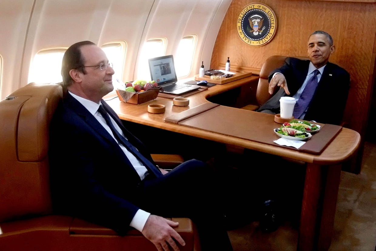 Air force one l 39 avion de barack obama en images for Force interieur