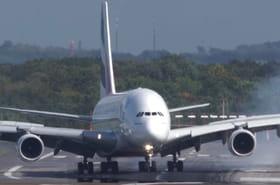 Atterrissage d'un avion à Düsseldorf: la vidéo choc de l'A380