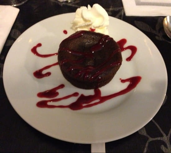 Dessert : La Table  - Dessert menu a 19€90 fondant au chocolat -
