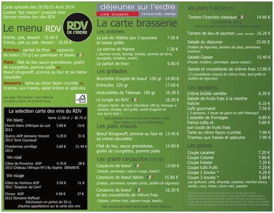Déjeuner sur l'Erdre  - carte spéciale rendez vous de l'erdre 2014 -   © déjeuner sur l'erdre