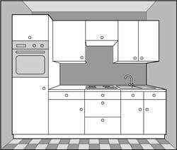 Monter les caissons for Monter un plan de travail cuisine