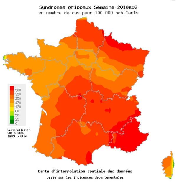 Grippe 2017-2018 en France
