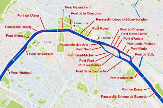 plan des ponts de paris