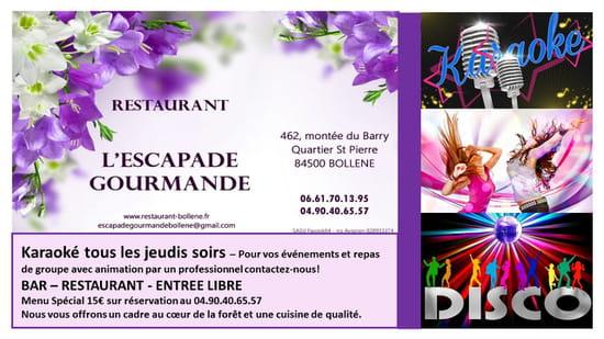 Restaurant : L'Escapade Gourmande  - Animations de L'Escapade Gourmande -   © Facook64