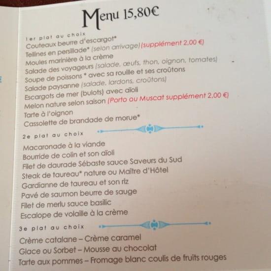 Restaurant : Restaurant des Voyageurs  - Menu a 15€80 -