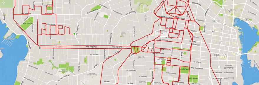 A vélo, il trace des dessins avec son GPS !
