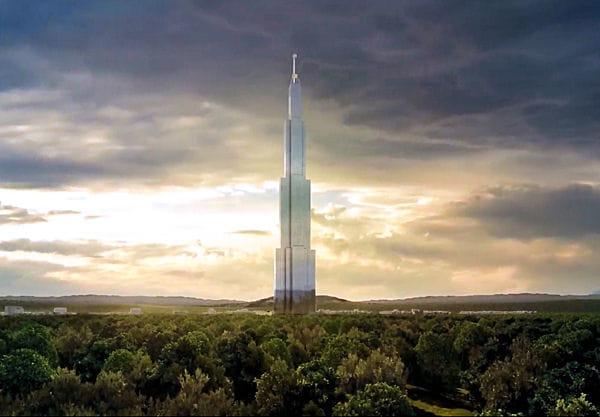 sky city tower future plus haute tour du monde. Black Bedroom Furniture Sets. Home Design Ideas