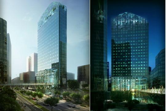 Modernité et transparence: la tour Prisma à La Défense