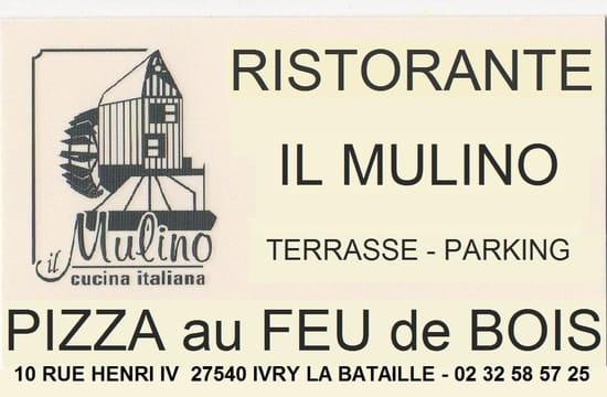 Moulin d'Ivry  il Mulino  - carte de visite -