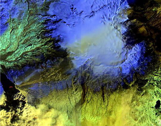Eruption du volcan islandais Eyjafjöll
