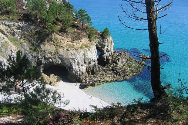La plage de l'Ile Vierge à Saint-Hernot (Finistère)