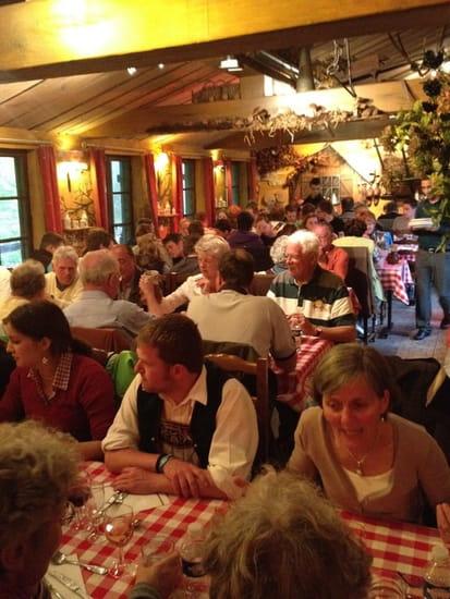 Croix d'Augas  - La salle de restaurant -