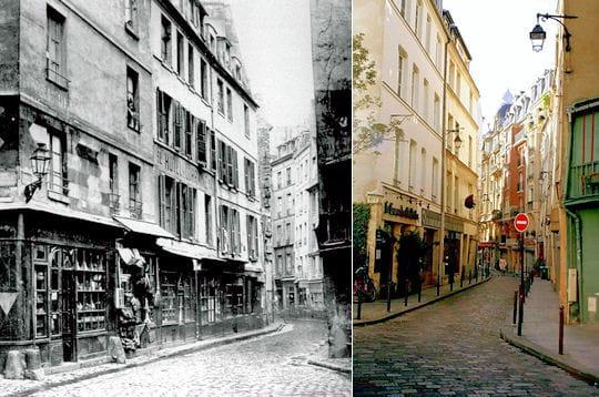 La rue Galande 1850/ 2007