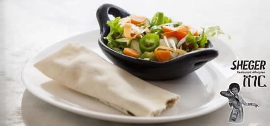 Entrée : Sheger  - http://www.restaurantethiopien.fr -
