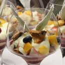Dessert : Le Hameau Fleur de Pierres  - Verre Enflammé -   © perso NJ