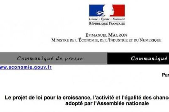Loi Macron: l'erreur du ministère de l'Economie qui annonce (déjà) son adoption