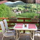 Restaurant : Auberge de Liézey  - Vue de la terrasse -   © ADL