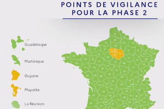 CARTE CORONAVIRUS. Le gouvernement a dévoilé la nouvelle carte du déconfinement. L'ensemble du territoire métropolitain passe en vert, à l'exception de l'ïle-de-France.