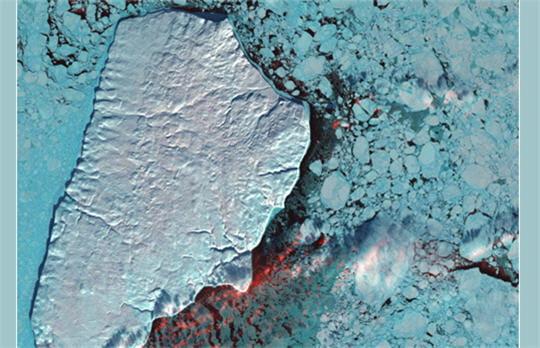 Icebergs en mosaïque