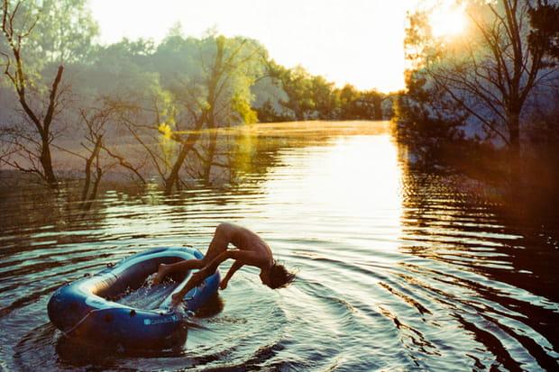 Plongée dans le lac
