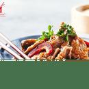 Plat : Veng Hour - Nancy Houdemont  - Plat de boeuf saté et boeuf aux oignons pour manger chez Veng-Hour traiteur asiatique de qualité à Nancy 54 Cora Houdemont -   © Veng Hour