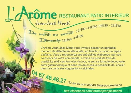 Restaurant L'Arôme - Jean-Jack Monti  - publication midilibre janvier 2012 -