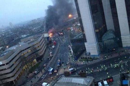 Crash d'hélicoptère à Londres : les premières images