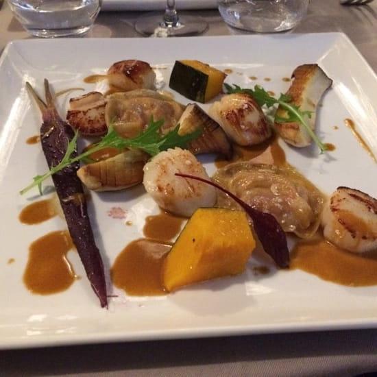 Plat : Restaurant La Poissonnerie  - Saint Jacques, succulentes ! -