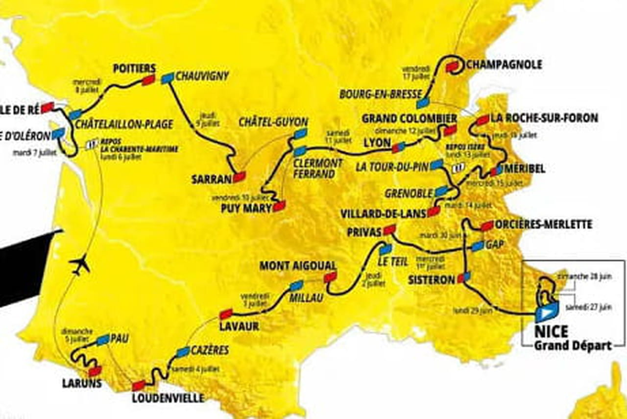 Tour de France2020: dates, carte du parcours, favoris... Tout savoir