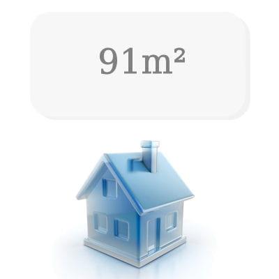 91 m de surface moyenne. Black Bedroom Furniture Sets. Home Design Ideas