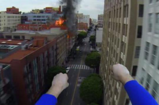 Le voyage de Superman en GoPro