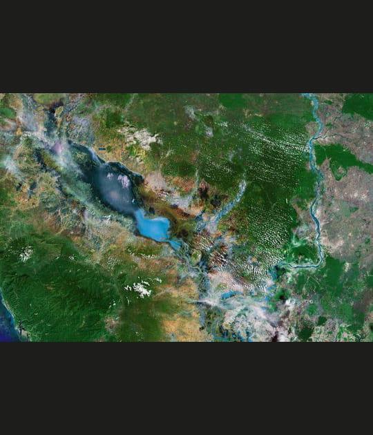 Vue satellite: le Tonlé Sap