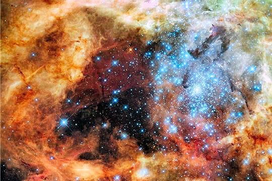 Naissance d'étoiles par milliers
