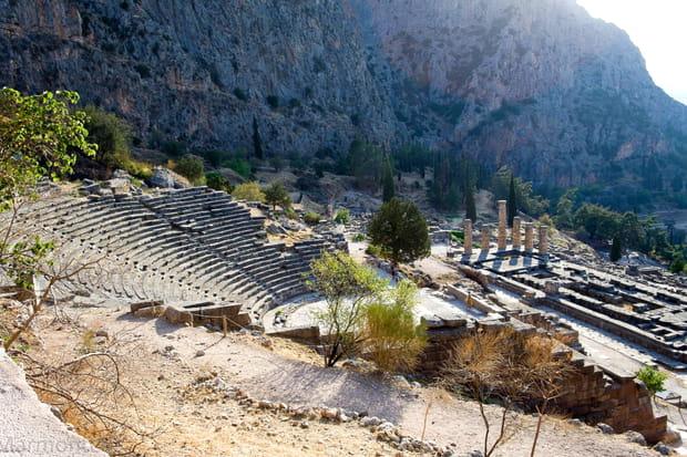 Le sanctuaire de Delphes en Grèce