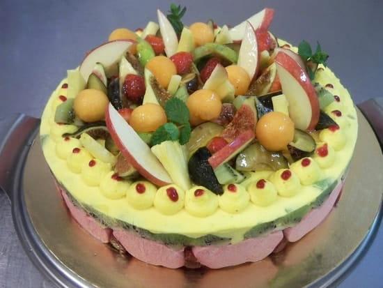 Aux Deux Chefs  - Gâteau d'anniversaire (Le bavarois aux fruits de saison) -