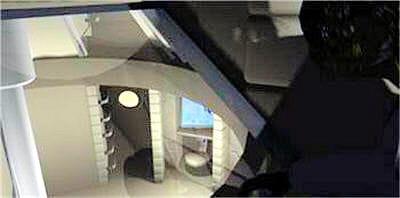 chaquefenêtre des chambres donne sur le foyer de mars direct 1.