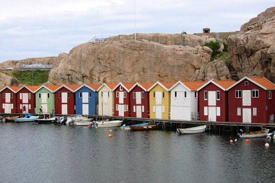 Maisons de pêcheurs à Smögen