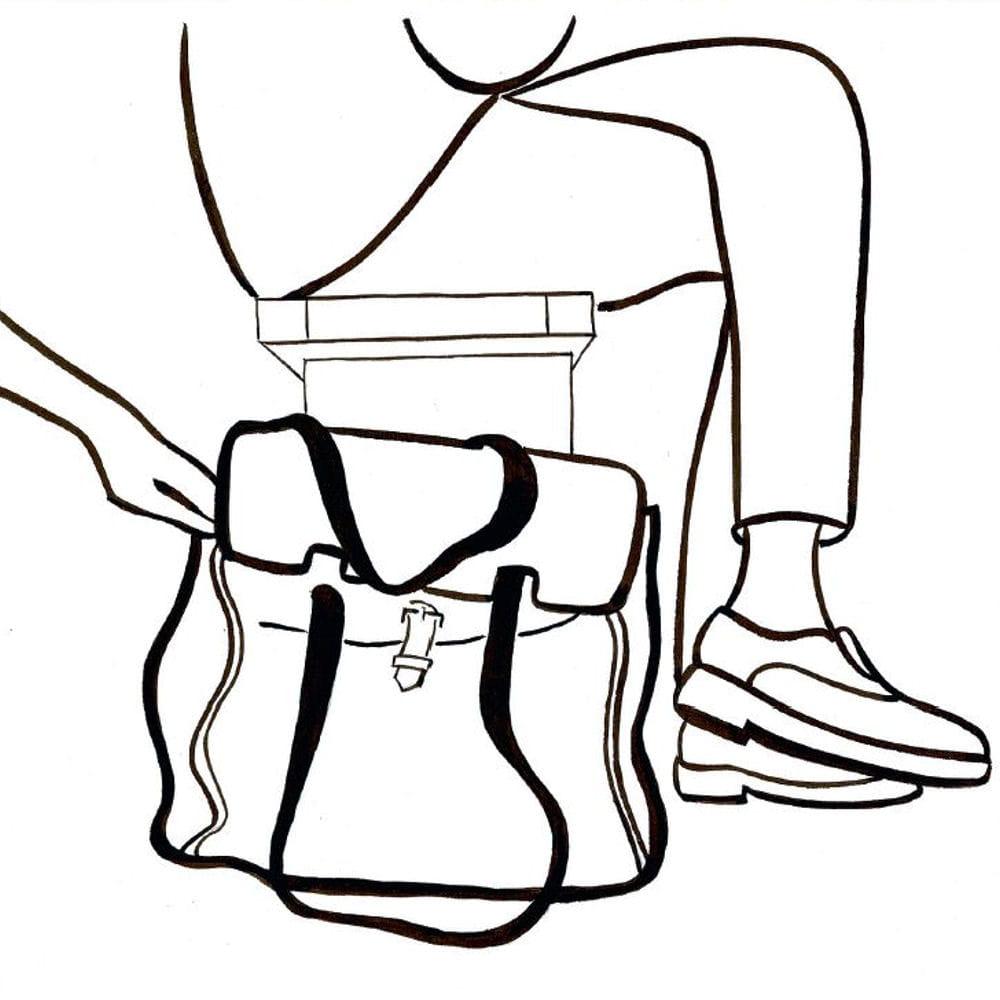 Poser son sac main par terre for Miroir a poser par terre
