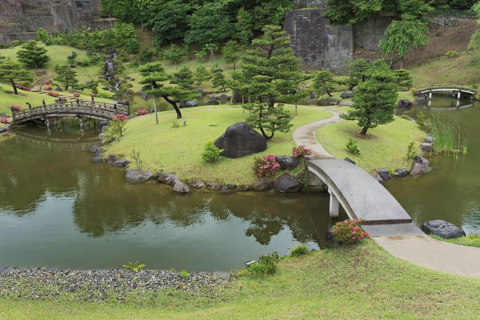 Le jardin Gyokusen-in maru à Kanazawa