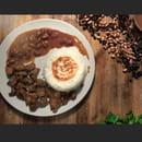 Plat : Goupam  - Diri blan sauce pwa avec tasso d'agneau -   © Goupam