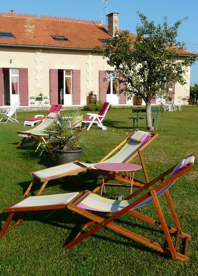 Le Domaine de Blaignac  - vue du jardin -   © lepetit