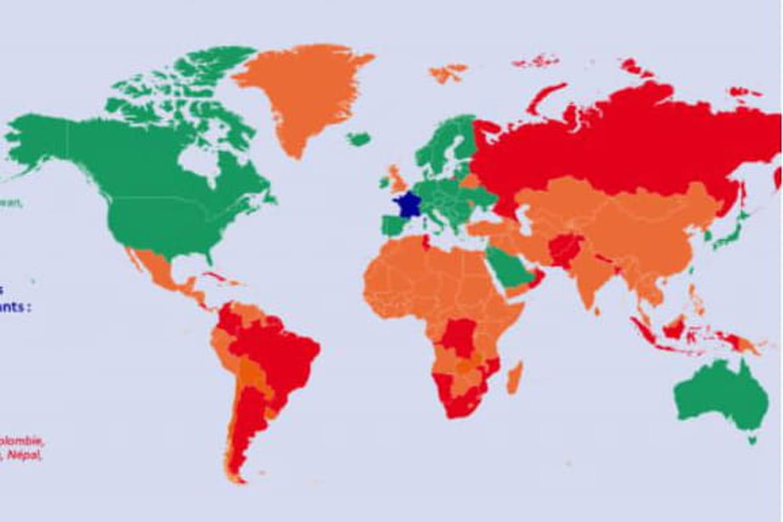 Voyage et Covid: le Maroc et l'Algérie sous liste rouge, où partir cet été 2021? La carte