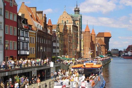 Le port de Gdansk en Pologne