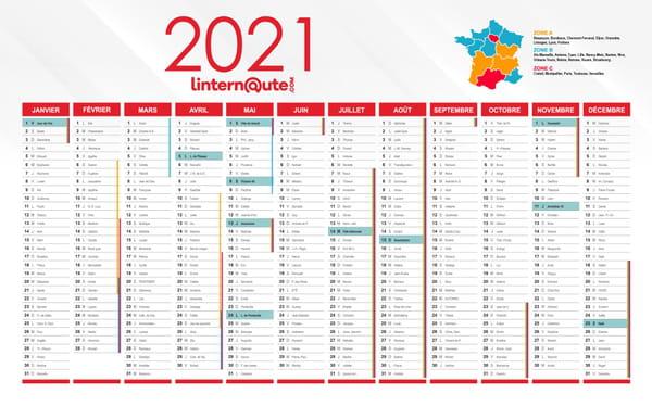 calendrier jours fériés 2021