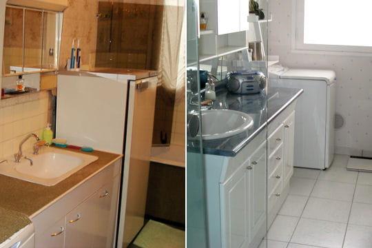 une salle de bains plus lumineuse. Black Bedroom Furniture Sets. Home Design Ideas