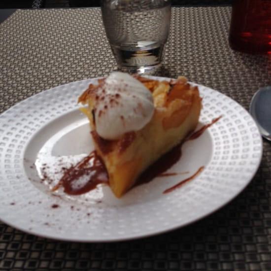 Dessert : Au Moulin à Café  - Gateau aux pèches de vigne -