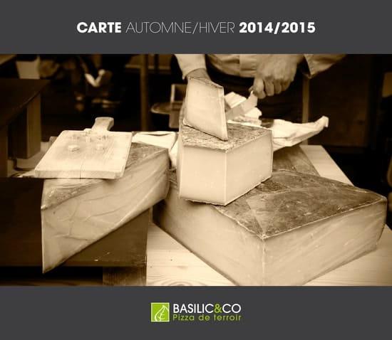 Basilic & co Nantes  - Carte Automne/Hiver 2015 -