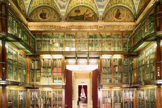 La bibliothèque du musée Morgan à New York