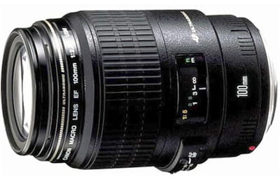 objectif macro canon. focale fixe 100 mm. ouverture f/2.8. rapport macro 1/1.