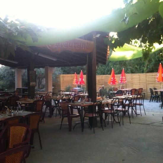 Restaurant : Le Bon Accueil  - Vue terrasse -